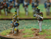 Skirmishers in campaign uniform