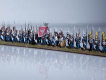 Full battalion in line