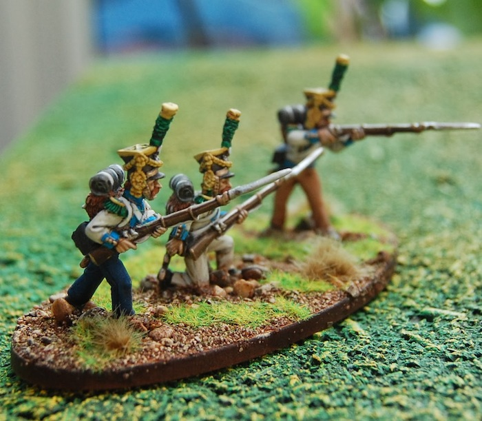 Skirmishers from the 13th Infantry Regiment